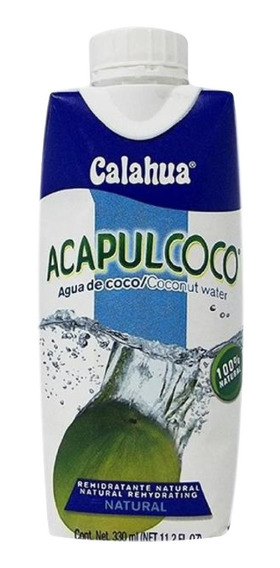 Agua De Coco Acapulcoco Calahua 330 Ml.