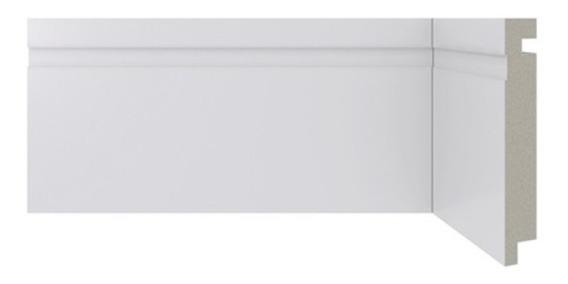 Rodapé Em Poliestireno Moderna 457 Branco 10x240cm
