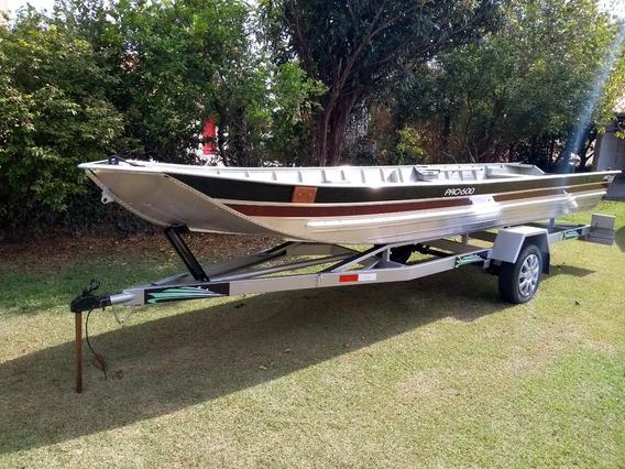 Barco De Alumínio Semi Chata 6m Pesca / Lazer