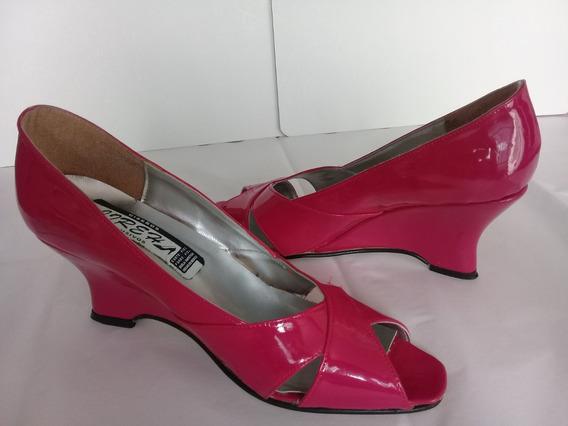 Bonitos Zapatos Para Dama Color Fiucsa #22
