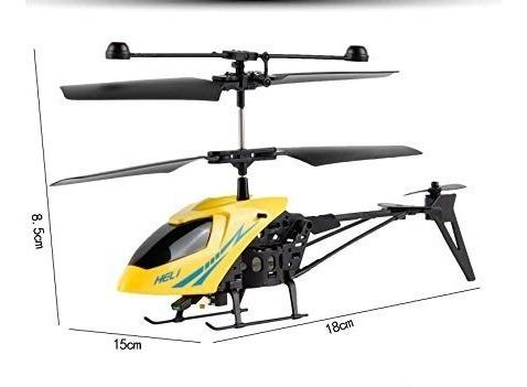Helicoptero Rc Radio Control Miniatura Juguete Amarillo