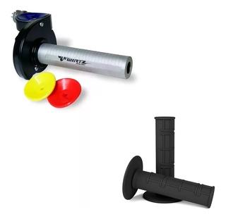 Acelerador Rapido Wirtz® Metrica 8mm Yamaha + Puños Negros