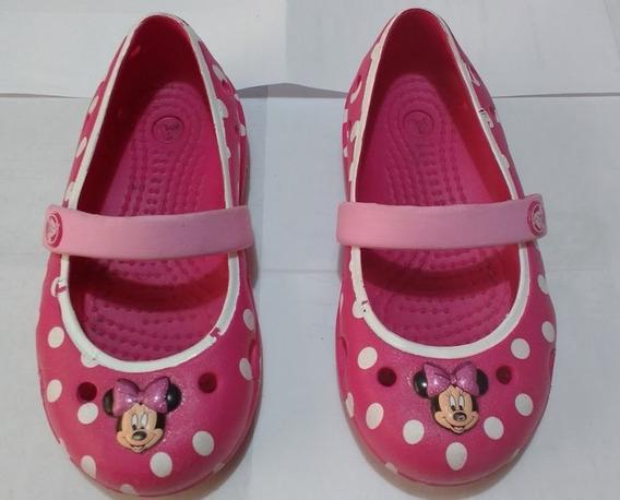 Sapatilha Crocs Original Oficial Infantil Rosa Usada