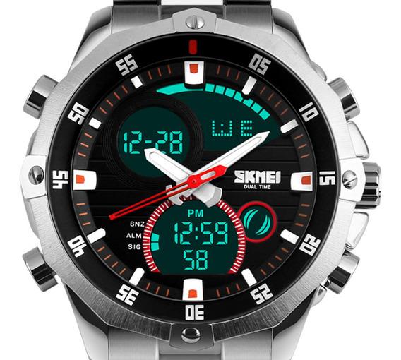 Relógio Masculino Skmei 1146 Esportivo Anadigi Luxo Original