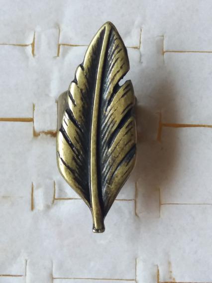 Promoção Anel Tipo Ouro Velho Folha Tamanho Regulável