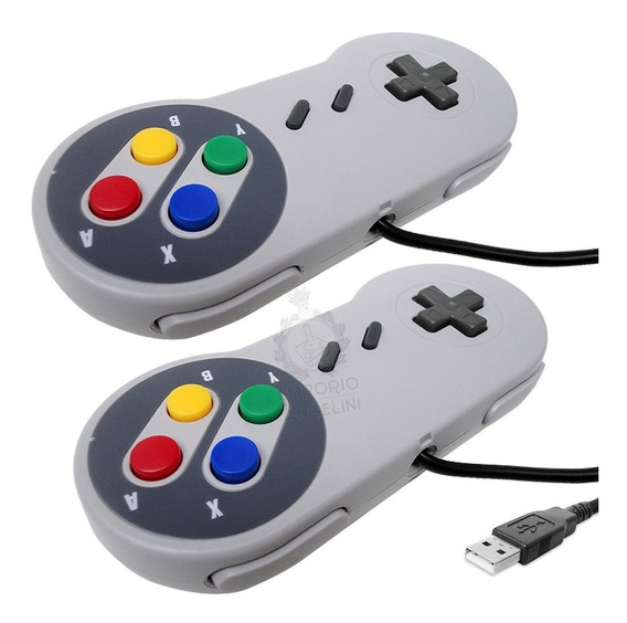 2 Controles Super Nintendo Usb Pc Windows Raspberry Pi Nfe