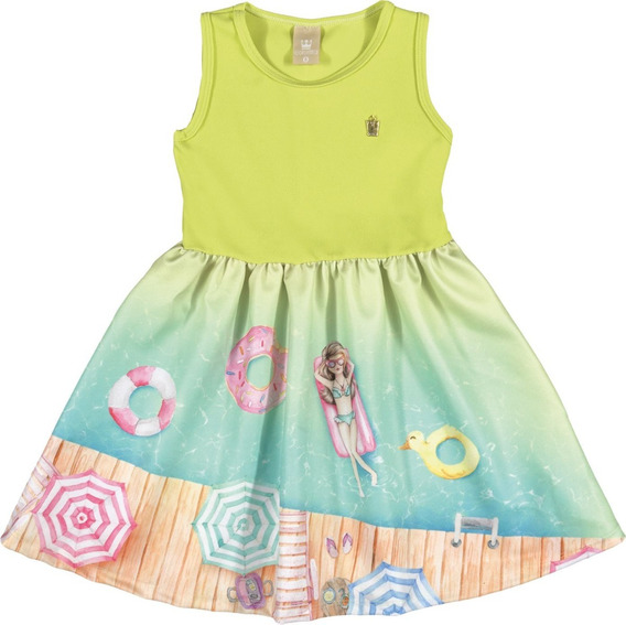 Vestido Infantil Coloritta Munique