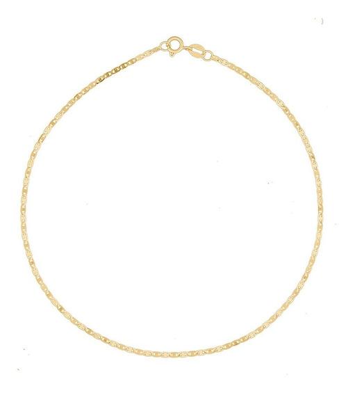 Tornozeleira Feminina 24cm Piastrine Em Ouro 18k 750