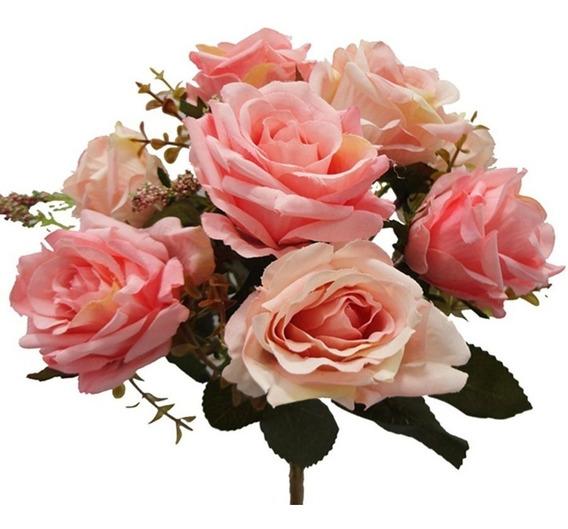 1 Buquê De Rosas Artificial Tamanho Grande Casamento 7422