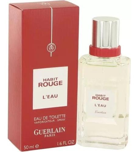 Perfume Original Guerlain Habit Rouge L'eau Edt 50ml