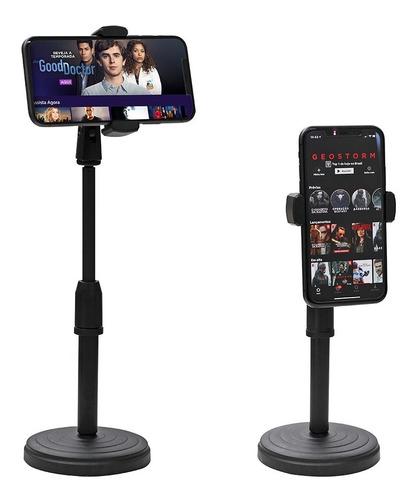 Imagem 1 de 2 de Suporte Tripé Celular Smartphone Mesa Portátil Selfie 360º