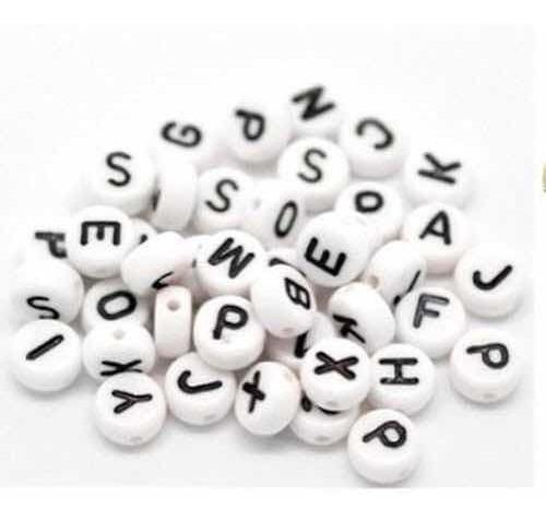 1000 Millar Letras Para Bisutería Acrílico Blanco