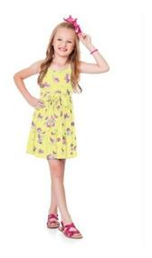 Roupa Infantil Menina Vestido Alça Malha 4, 6, 8, 10