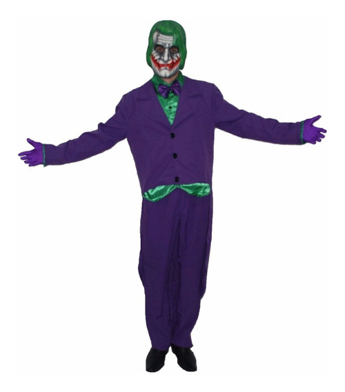 Fantasia Do Coringa Infantil Juvenil Joker Roupa + Luvas