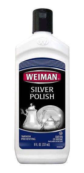 Crema Limpiadora Y Pulidora De Plata Weiman 237ml (8 Fl Oz)