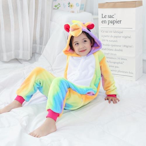 Kigurumi Pijama Niño Plush Disfraz Unicornio Multicolor