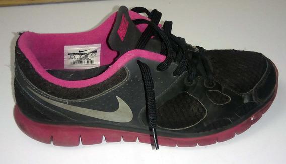 Tênis Feminino Nike Nº 36 Preto Com Rosa Ótimo Estado