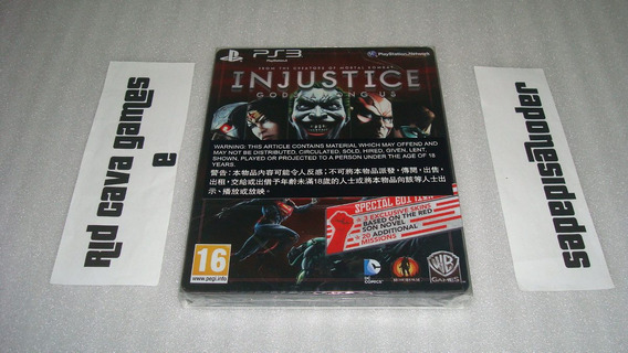 Injustice Gods Among Us Special Steelbook Edition Ps3