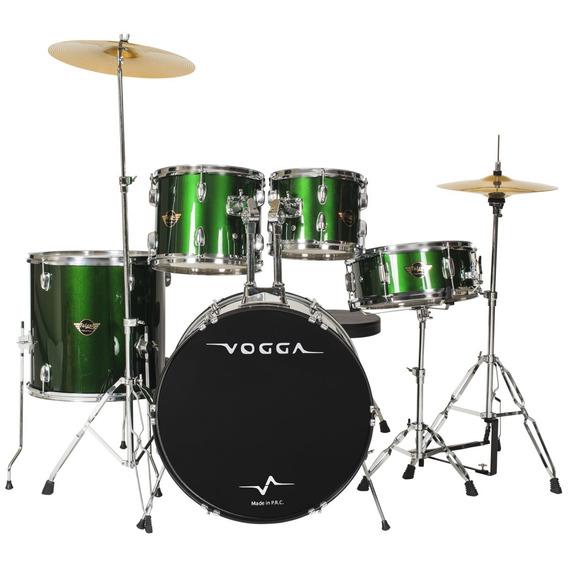 Bateria Acústica Bumbo 22 Pol Talent Vpd922 Verde - Vogga