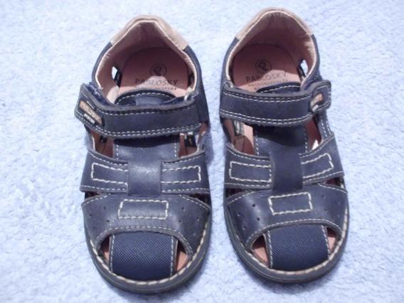 Sandalias Para Niño 100% Cuero Marca Pablosky Talla 25