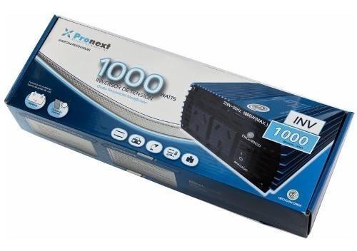 Inversor De Tensión 12 Volts A 220 Volts Hasta 1000 Watts