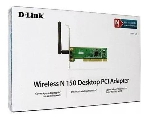 Placa Rede Pci Wireless D-link Dwa-525 150mbps