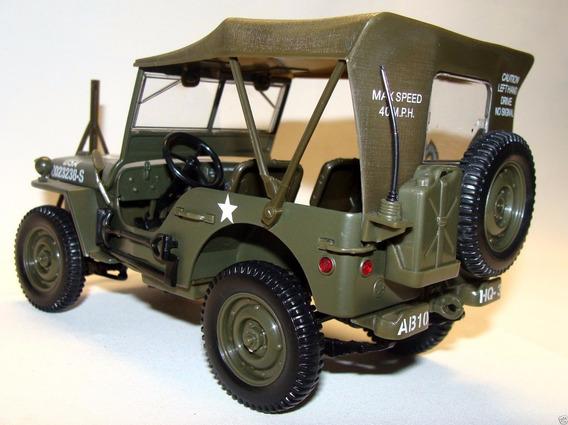 Miniatura Jeep Willys Militar - 1:18 Solido - Raro Na Caixa