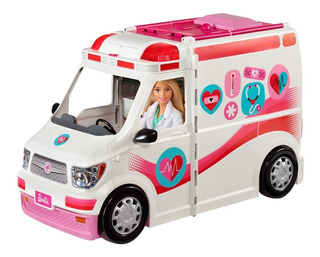 Barbie Hospital Móvil Con Luces Y Sonidos Ambulancia Mattel