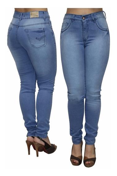 Calca Feminina Jeans Com Elastano