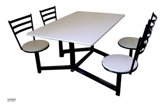 Mesa Conjugada Para Refeitorios Cozinhas Industriais Buffet