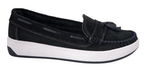 Zapato Casual Shosh 563 Cof 179301 Antiderrapante Gamuza