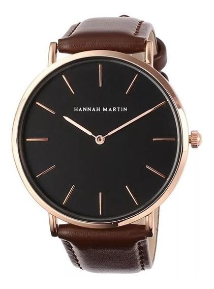 Relógio De Quartzo Masculino Feminino Hannah Martin