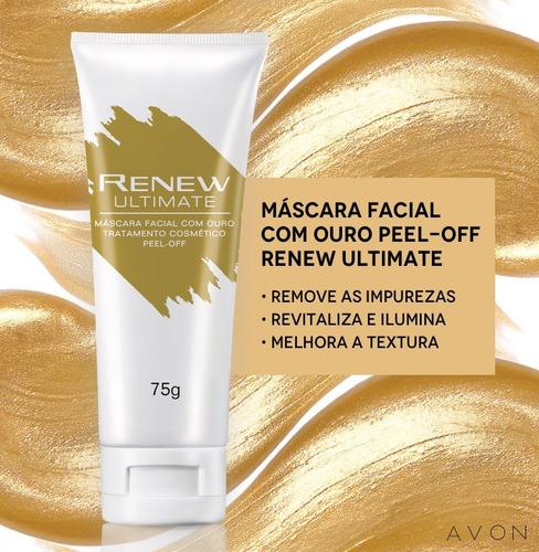 Máscara Facial Ouro Renew Ultimate 75ml Avon