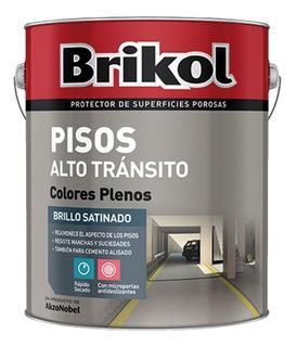Brikol Piso Alto Transito C/microperlas Antidezlizante 4l