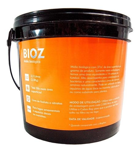 Mídia Biológica Para Lagos E Aquários Cubos Bio Z - 2,2l
