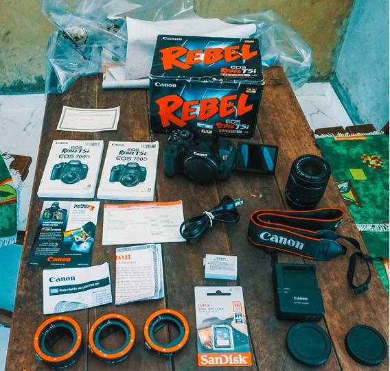 Canon T5i + Lente18-55 + Caixa + Cartão 16gb A Vista 2050