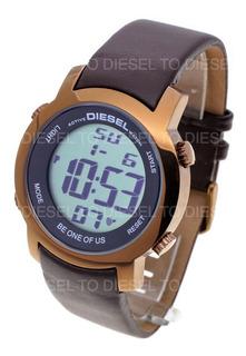 Reloj Diesel Hombre 6407 044 Digital Acero Cuero Sumergible