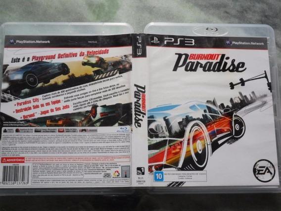 Frete Grátis Burnout Paradise Jogo De Ps3 Dvd)