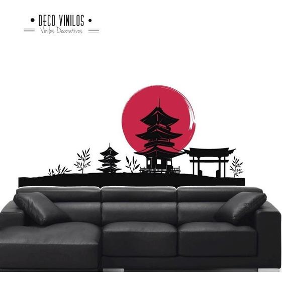 Vinilo Decorativo Para Pared Paisaje Japon