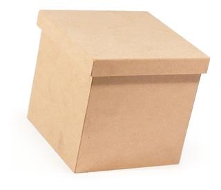 Cajitas 15x15x15 Caja Tapa Lisa Fibrofacil X12 Unidades !