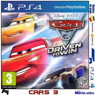 Cars 3 Driven To Win Ps4 Digital | Cupo Secundario