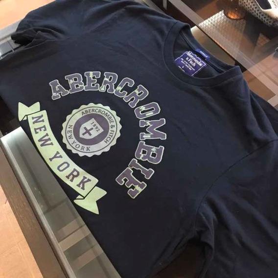 Camiseta Abercrombie Azul Original