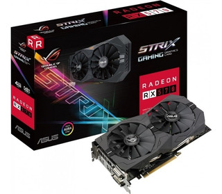 Tarjeta Video Asus Strix Rx 570 4gb Oc 256bit Rgb Gaming Pc