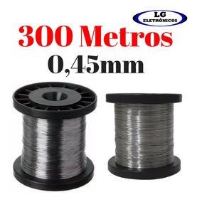 Arame De Resistencia Aço Inox Cerca Eletrica 300 Mt 0,45mm