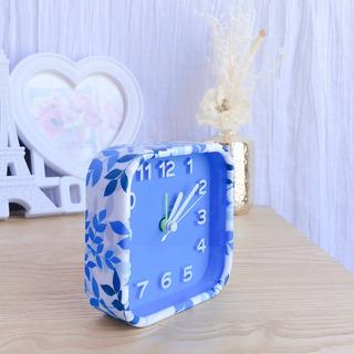 Reloj Despertador Vintage Redondo Con Alarma Azul