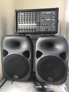 Sistema De Sonido Phonic 740 Plus Con Bafles Wharfedale 12