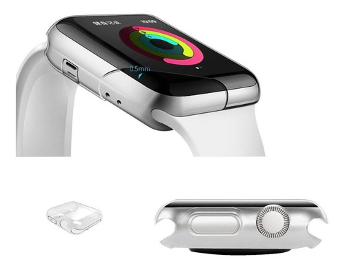 Imagen 1 de 4 de Protector Ultraslim Apple Watch 40mm Serie 4 Antigolpes