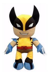 Wolverine Super Heróis Ex - Man Em Pelúcia 45 Cm Altura