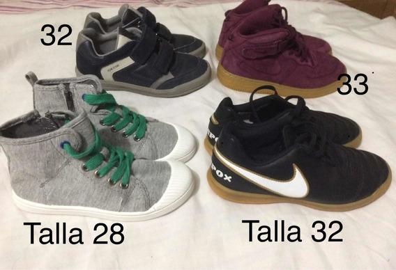 Zapatos Niños Remate Importados Talla 22 A La 33