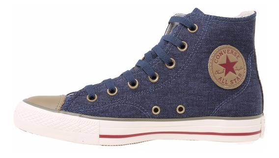 Zapatillas Mujer Botita Converse All Star Linen Hi Navy